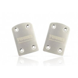 T-Work's Sabot de Protection Chassis Inox X-Ray (x2) XB-4 TO220XB4