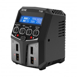 SkyRc Chargeur T100 Duo 2x50W AC/DC SK100162