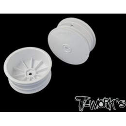"""T-Work's Jantes Avant 4wd 2.2"""" 12mm Blanches (x2) TE-218-BW"""
