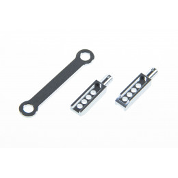 GPM Support carrosserie arriere Alu 1/16 Argent ERV201R-S